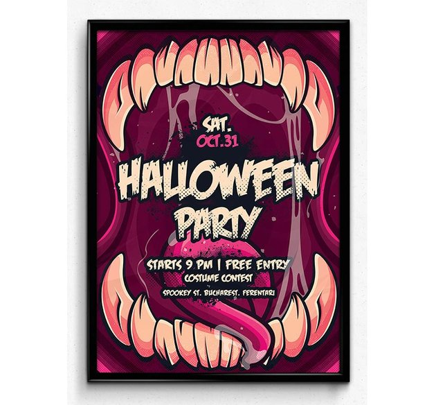 Halloween Monster Party Flyer