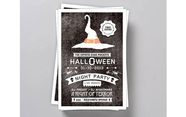 Typography Halloween Invite Flyer
