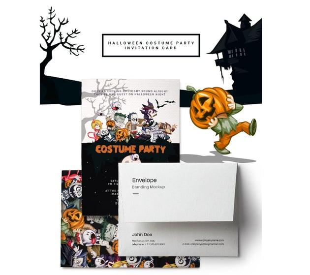 Halloween Costume Party Invitation Card