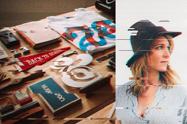 Anaglyph Glitch Photo FX