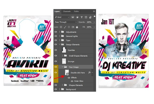 Changing the Photo in a Flyer Template
