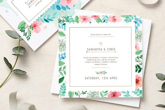 Wedding Stationery - Flower Style