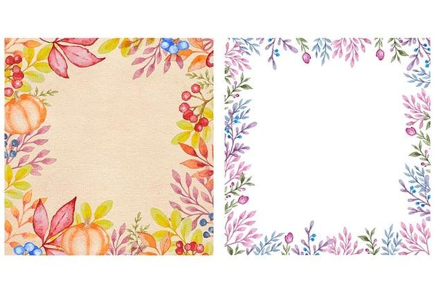 Watercolor Autumn Design Kit
