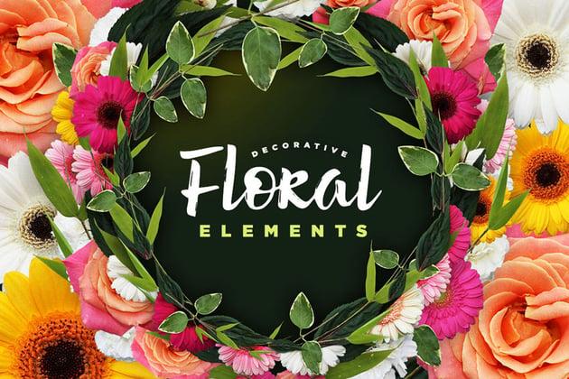 Decorative Floral Elements Kit