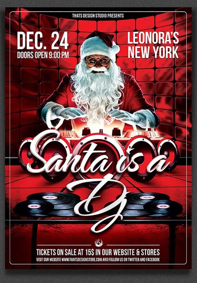Santa is a DJ Flyer Template