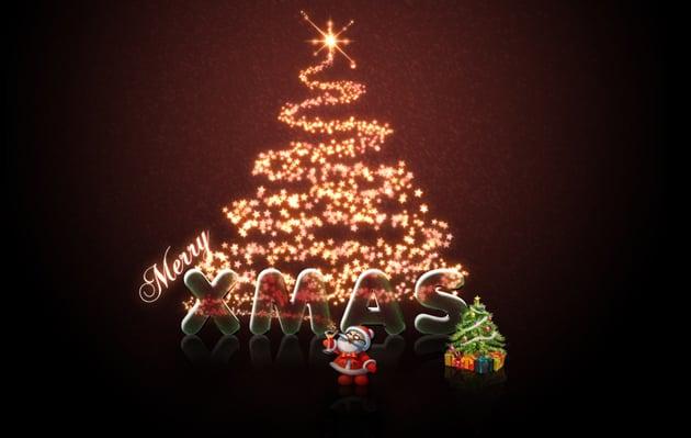 Christmas Tree E Card by Akira