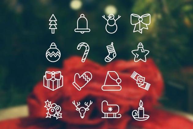 Christmas 16 Icons Set