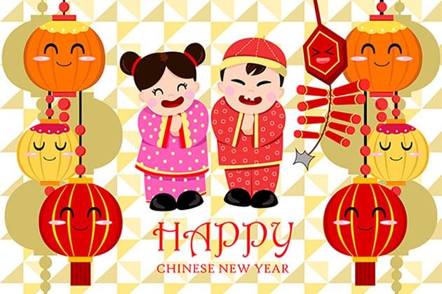 Fun Chinese New Year Greeting Card