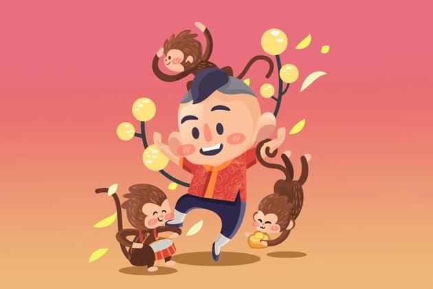 Chinese Good Luck Mascot