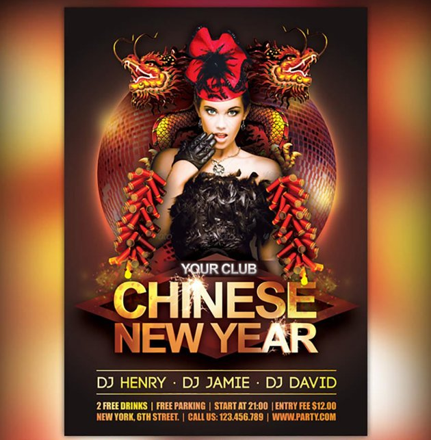 Chinese New Year Club Flyer