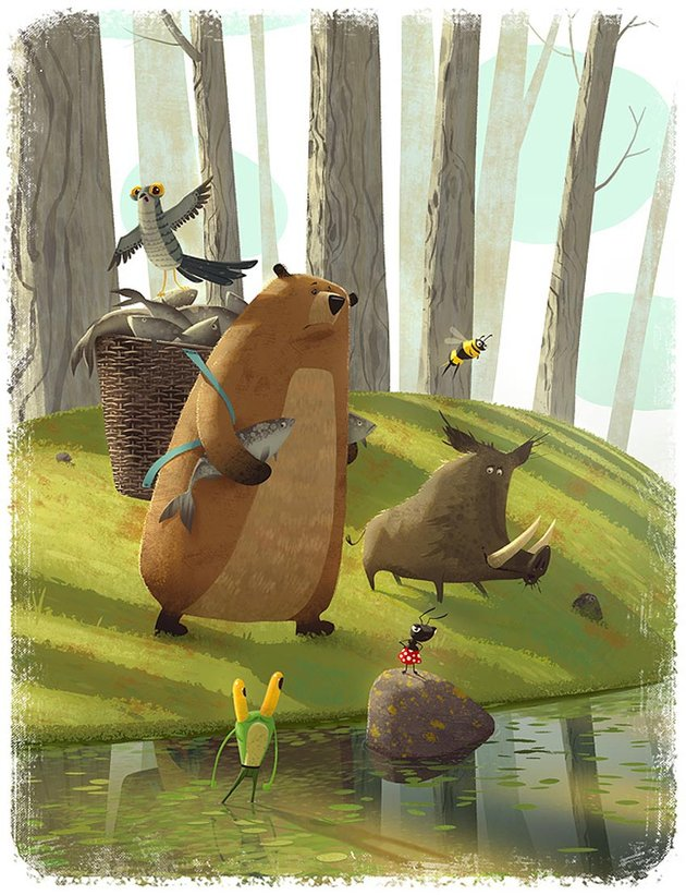 Childrens Book Illustrations by Gediminas Pranckevicius