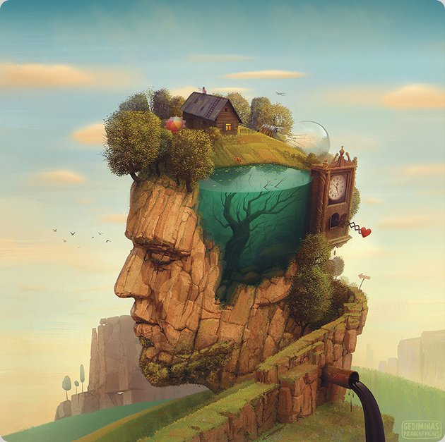 Oil and Water Album Cover by Gediminas Pranckevicius