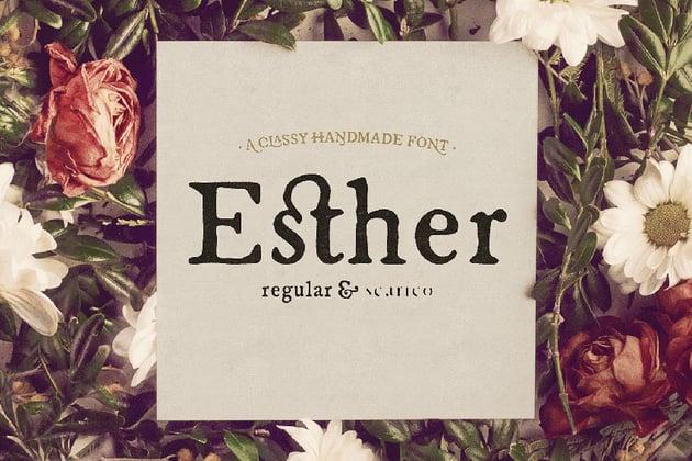 Esther Handmade Font