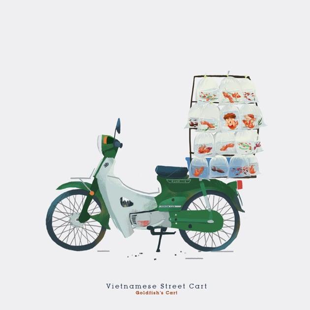 Vietnam Street Cart by Rong Pham