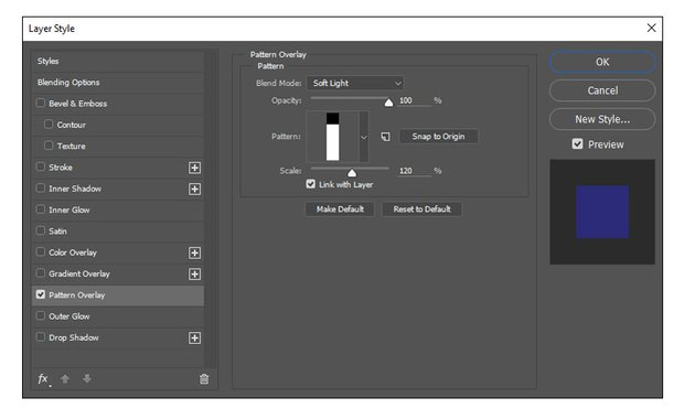 Creating the Horizontal Pattern with an Overlay
