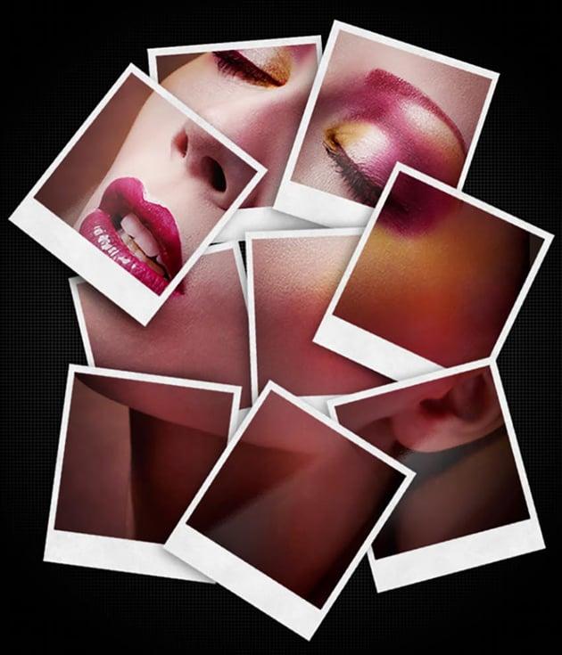 Polaroid Collage Photo Template