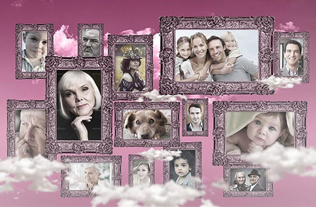 Vintage Photo Collage Template 2