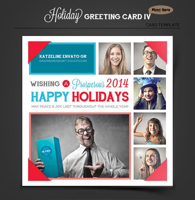 Photo Collage Holiday Greeting Card