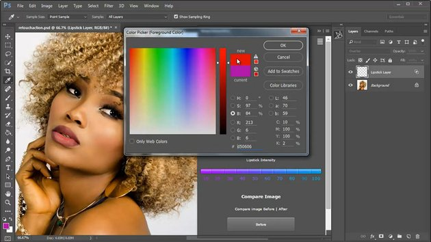Picking a Lipstick Color with Color Picker