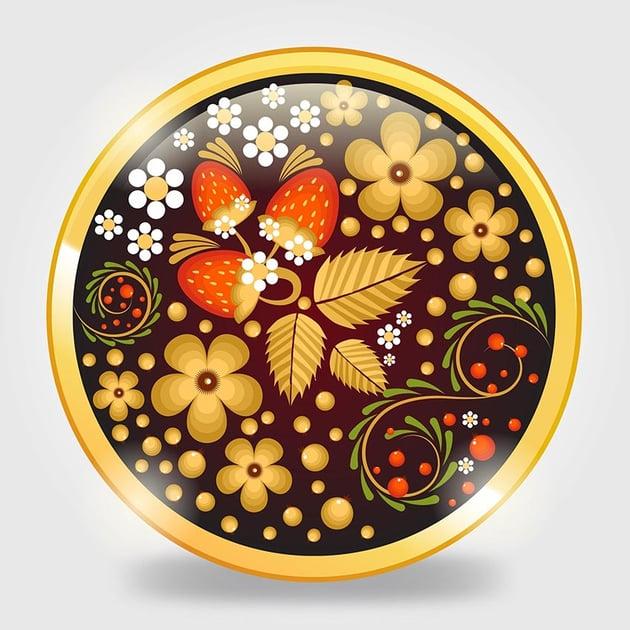 Russian Khokhloma Ornament by Hoang Pham