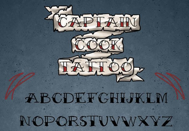 Captain Cook Tattoo Font