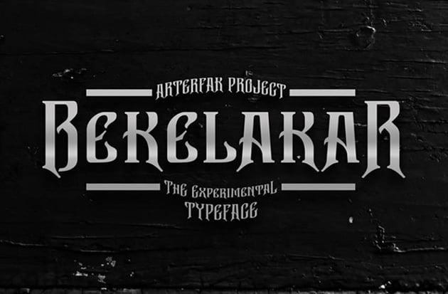 Bekelakar Typeface