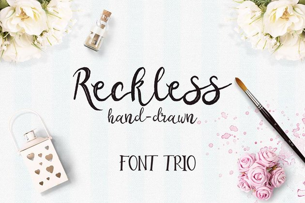 Reckless Font Trio