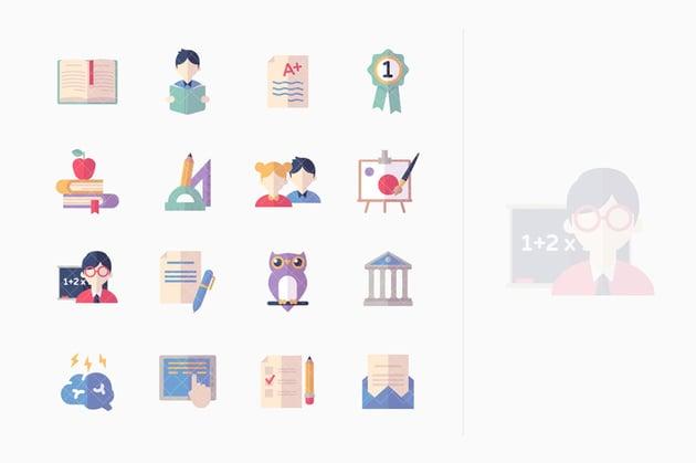 Education Icons Set 2