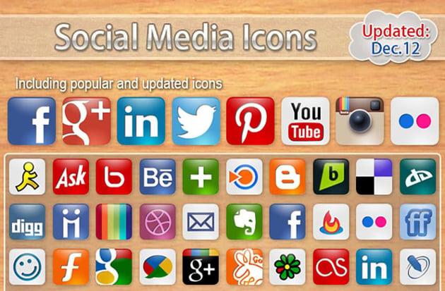 60 Social Media Icons