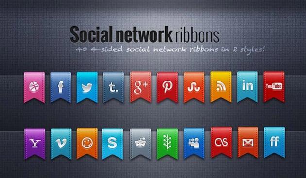 40 Social Network Ribbons