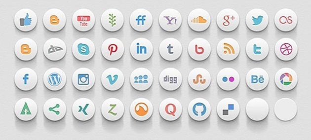 Assorted Social Media Icons