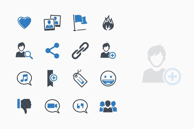 Social Media Icons Set 2 - Blue Series