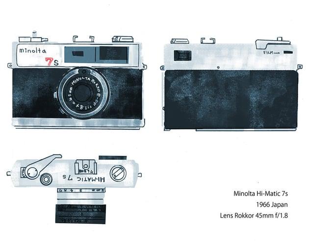 Minolta Hi Matic 7s Illustration by Kyoko Nemoto