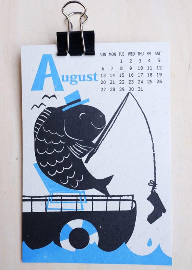 2017 Calendar Illustrations by Kyoko Nemoto