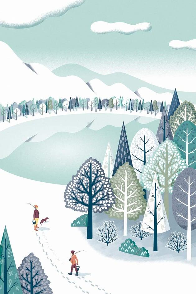 Snowscape Art by Mutsumi Kawazoe