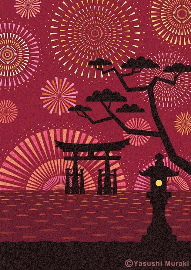 Fireworks Art by Yasushi Muraki