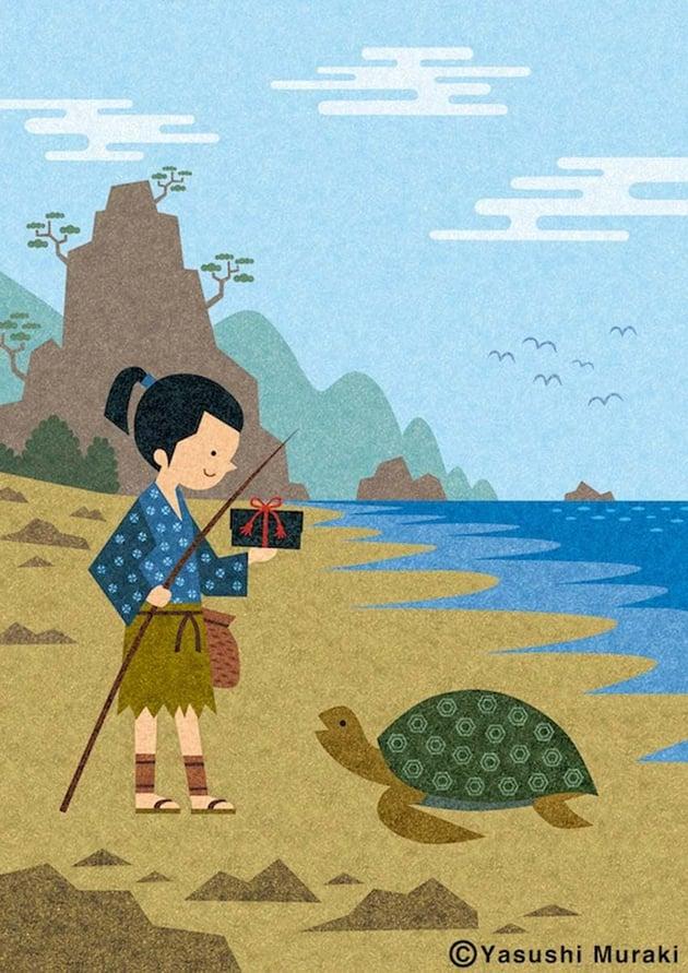 Urashima Taro Art by Yasushi Muraki