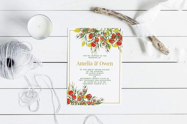 Summer Wedding Invitation Card