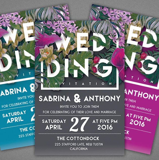 Floral Wedding Invitation Template wedding invitation templates photoshop