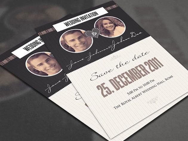 The Vintage Wedding Card