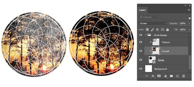 Adding a Photo to a Geometric Design