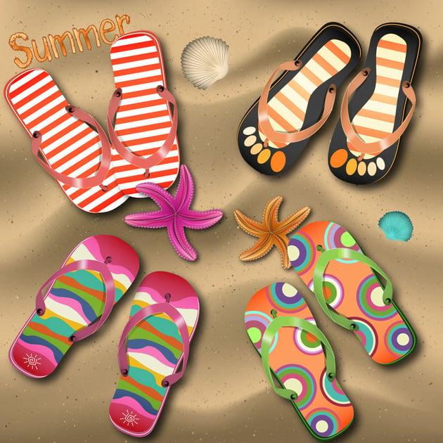 Flip Flop Icons by Sylvie Lejeune