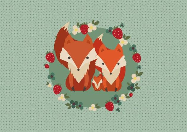 Retro Fox Illustration by Silvia Waltmann