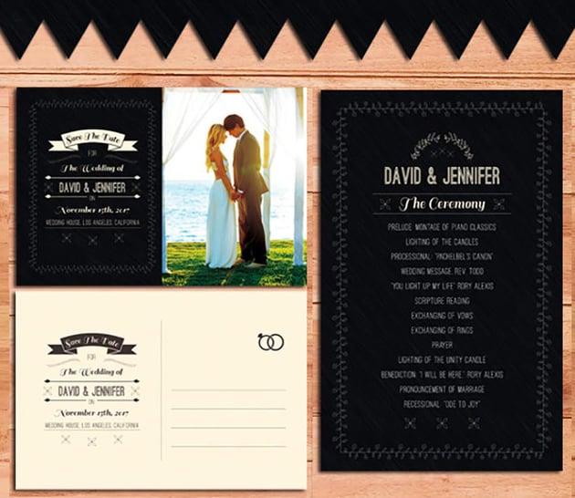 Wedding Invitation  Program Pack