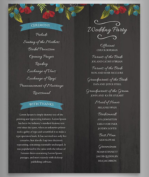 Floral Rustic Wedding Invitation Set