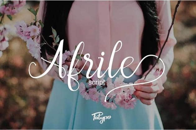 Afrile Script Font
