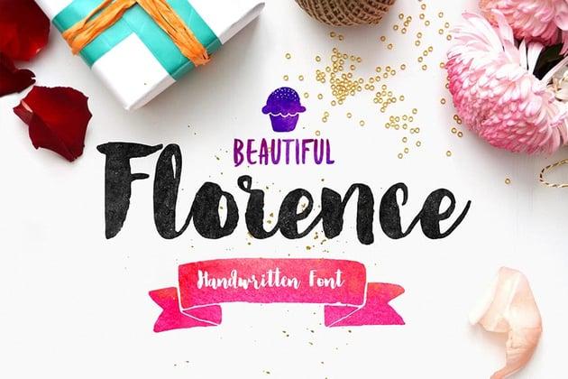 Florence Brush Font