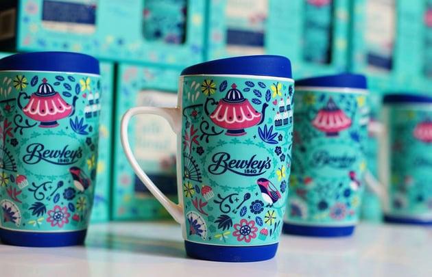 Bewleys Illustrated Coffee Mug by Paula McGloin