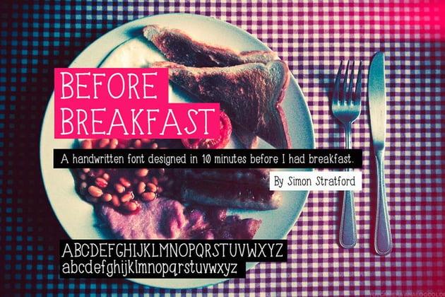 Before Breakfast Font