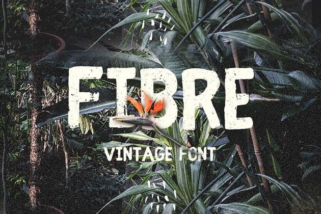 Fibre - Vintage Font